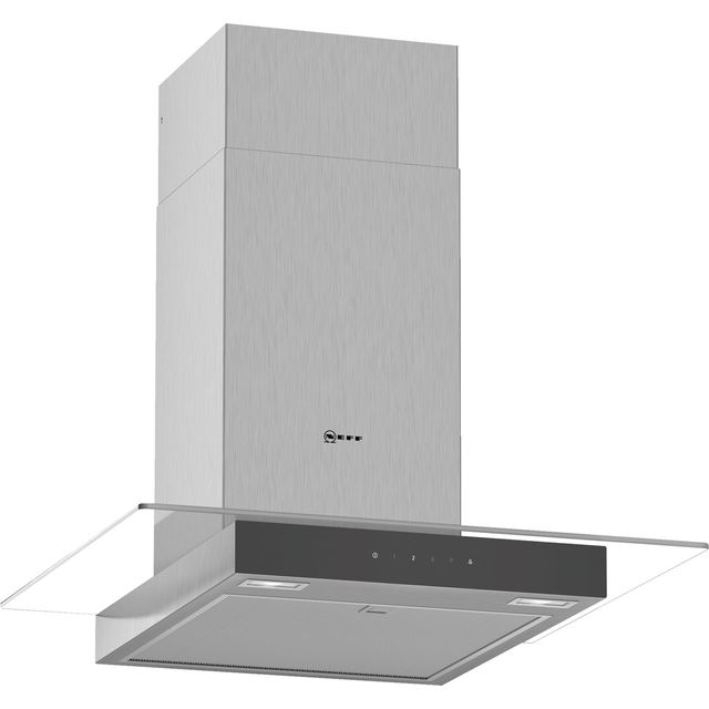 NEFF N50 D64GFM1N0B 60 cm Chimney Cooker Hood - Stainless Steel - A Rated - D64GFM1N0B_SS - 1