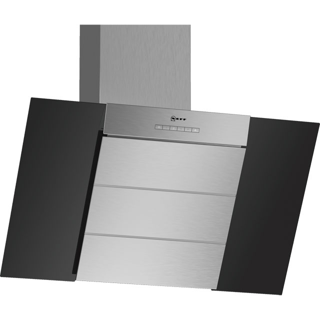 NEFF N50 D85IBE1S0B 79 cm Chimney Cooker Hood - Black - B Rated - D85IBE1S0B_BK - 1