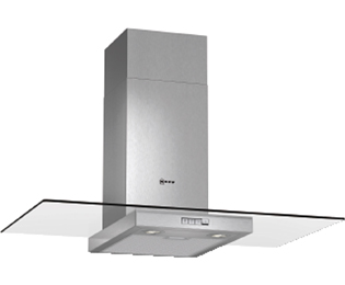 NEFF 90 cm Chimney Cooker Hood - Stainless Steel / Glass - D Rated