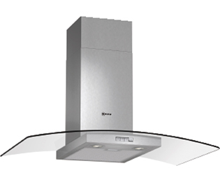 Product image for Neff D89GR22N0B 90 cm Chimney Cooker Hood - Stainless Steel / Glass