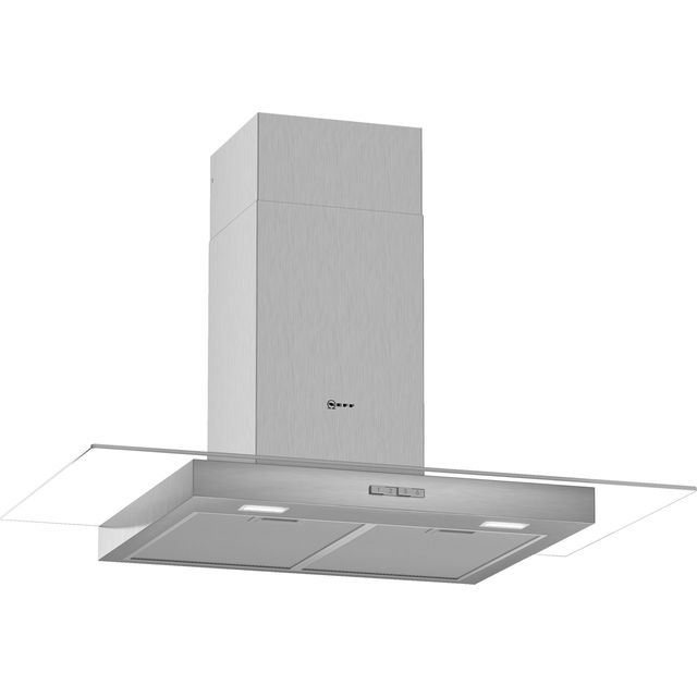 NEFF N30 D94GBC0N0B 90 cm Chimney Cooker Hood - Stainless Steel - A Rated - D94GBC0N0B_SS - 1