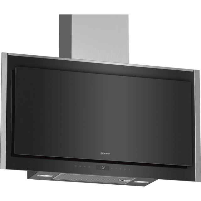 NEFF N90 D95FMW1N0B Wifi Connected 90 cm Chimney Cooker Hood - Black - B Rated - D95FMW1N0B_BK - 1