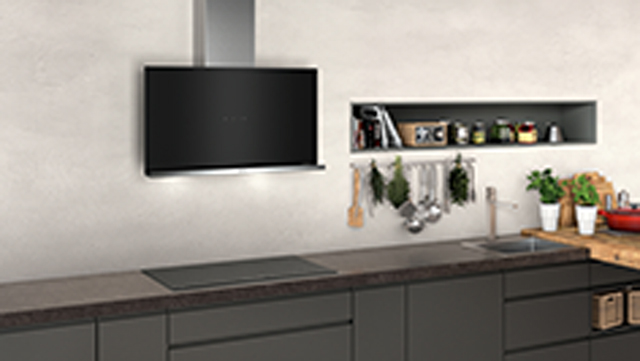 NEFF N70 D95FRM1S0B Built In Chimney Cooker Hood - Black - D95FRM1S0B_BK - 4