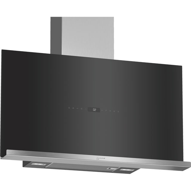 NEFF N90 D95FRW1S0B Wifi Connected 89 cm Chimney Cooker Hood - Black - B Rated - D95FRW1S0B_BK - 1