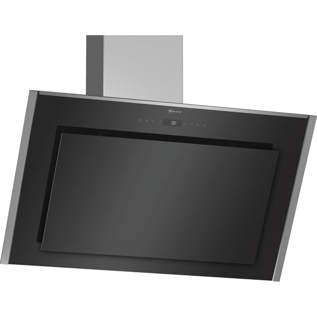 NEFF N90 D95IMT1N0B 89 cm Chimney Cooker Hood - Black - A Rated - D95IMT1N0B_BK - 1