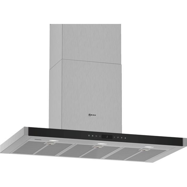 NEFF N90 D96BMV5N5B Wifi Connected 90 cm Chimney Cooker Hood - Stainless Steel - A+ Rated - D96BMV5N5B_SS - 1