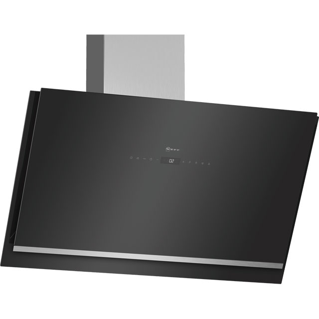 NEFF N90 D96IKW1S0B Wifi Connected 89 cm Chimney Cooker Hood - Black - A+ Rated - D96IKW1S0B_BK - 1
