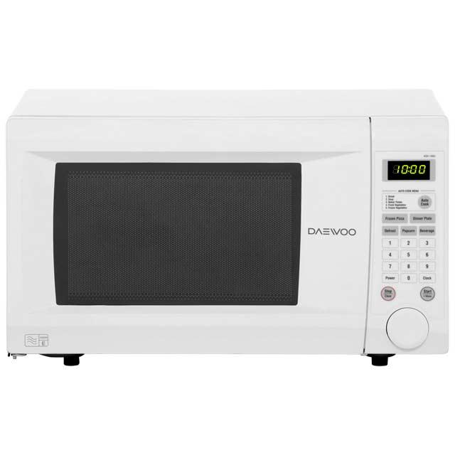 daewoo kor1n0a 1000 watt microwave free standing white new. Black Bedroom Furniture Sets. Home Design Ideas