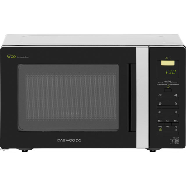 Daewoo KOR6A0R Free Standing Microwave Oven in Black