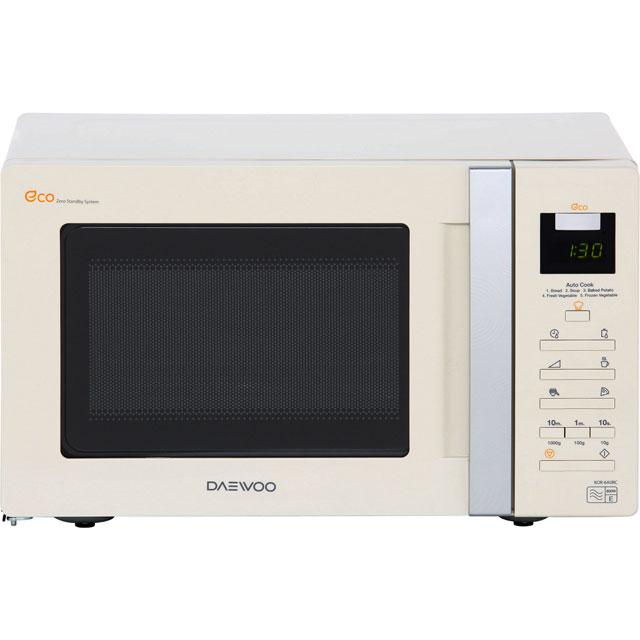 daewoo kor6a0rc 800 watt microwave free standing cream new. Black Bedroom Furniture Sets. Home Design Ideas