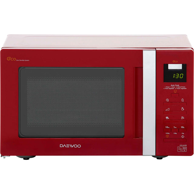 Daewoo KOR6A0RR Free Standing Microwave Oven in Red