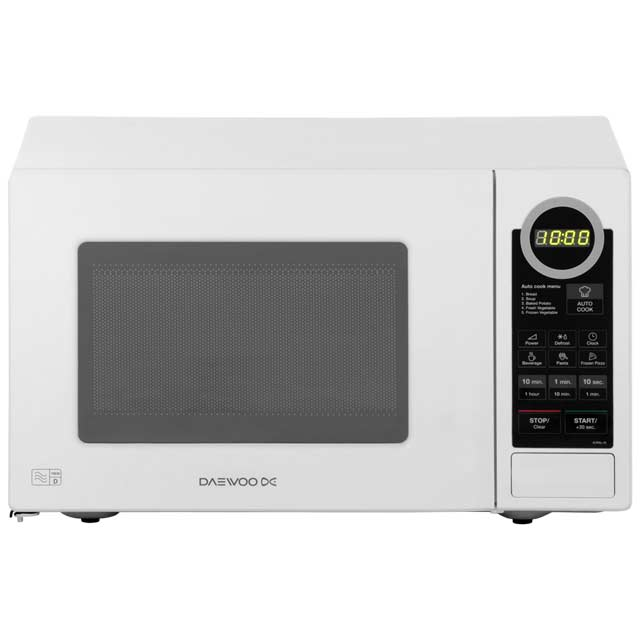 Daewoo KOR6L7B Free Standing Microwave Oven in White