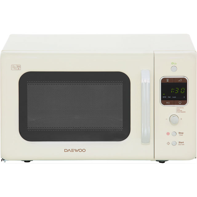 Daewoo Retro Style KOR7LBKC Free Standing Microwave Oven in Cream
