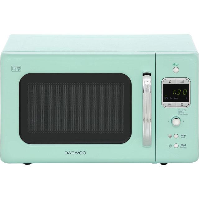 Daewoo Retro Style Kor7lbkm 20 Litre Microwave Mint