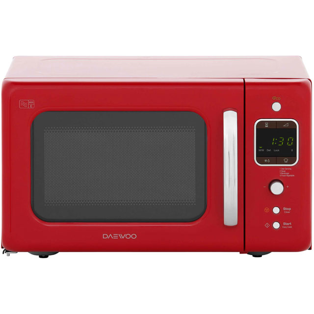 daewoo retro style kor7lbkr 20 litre microwave red best. Black Bedroom Furniture Sets. Home Design Ideas