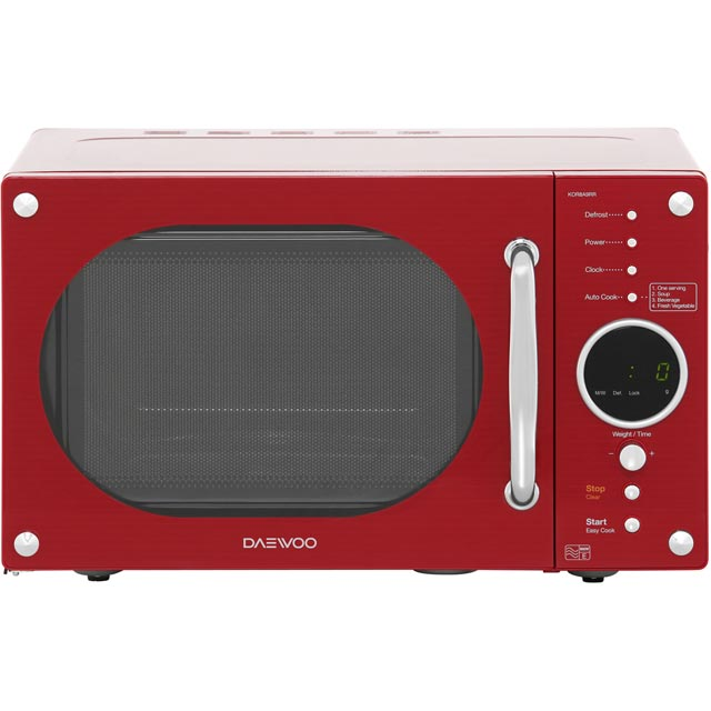 Daewoo Free Standing Microwave Oven in Red