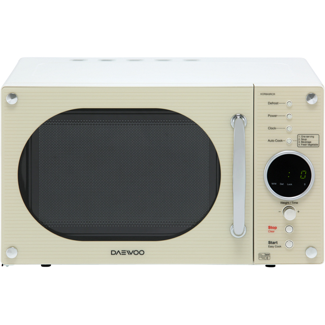 Daewoo Microwaves Retro Style KOR8A9RCR Free Standing Microwave Oven in Cream