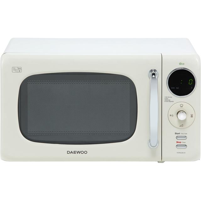 Daewoo Microwaves KOR9LBKCR Free Standing Microwave Oven in Cream