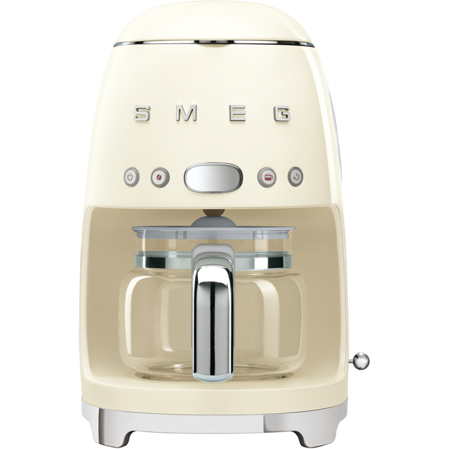 Smeg DCF02CRUK Filter Coffee Machine with Timer - Cream - DCF02CRUK_CR - 1