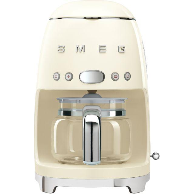Smeg 50's Retro DCF02CRUK Filter Coffee Machine with Timer - Cream