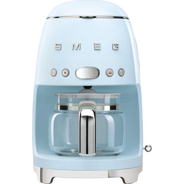 Smeg 50s Retro DCF02PBUK Filter Coffee Machine with Timer - Pastel Blue