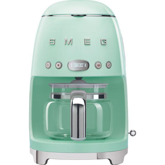 Smeg 50s Retro DCF02PGUK Filter Coffee Machine with Timer - Pastel Green