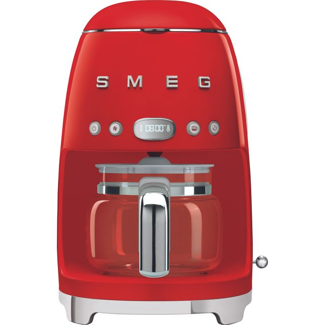 Smeg 50s Retro DCF02RDUK Filter Coffee Machine with Timer - Red