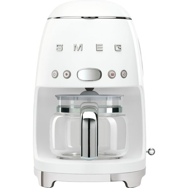 Smeg DCF02WHUK Filter Coffee Machine with Timer - White - DCF02WHUK_WH - 1