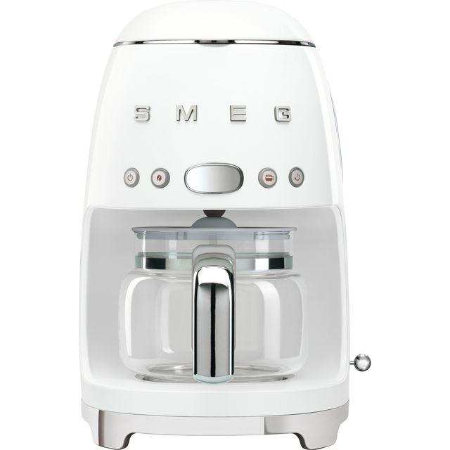 Smeg 50s Retro DCF02WHUK Filter Coffee Machine with Timer - White