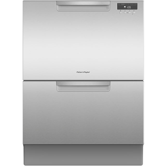 Fisher & Paykel Double DishDrawer™ DD60DAHX9 Semi Integrated Standard Dishwasher - Stainless Steel Control Panel with Fixed Door Fixing Kit - A Rated - DD60DAHX9_SS - 1