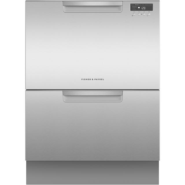 Fisher & Paykel Double DishDrawer™ DD60DCHX9 Semi Integrated Standard Dishwasher - Stainless Steel Control Panel with Fixed Door Fixing Kit - A++ Rated - DD60DCHX9_SS - 1