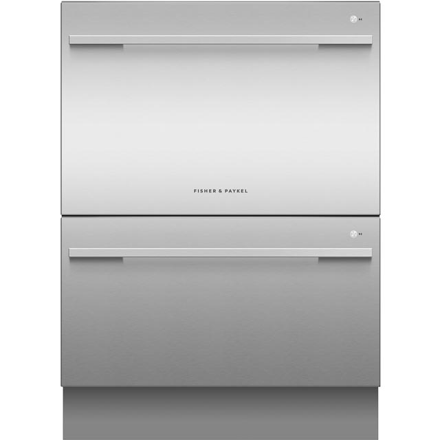 Fisher & Paykel Double DishDrawer™ DD60DDFHX9 Semi Integrated Standard Dishwasher - Stainless Steel Control Panel - A++ Rated - DD60DDFHX9_SS - 1
