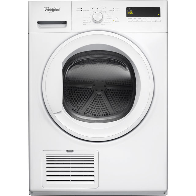 Whirlpool DDLX80114 Free Standing Condenser Tumble Dryer in White