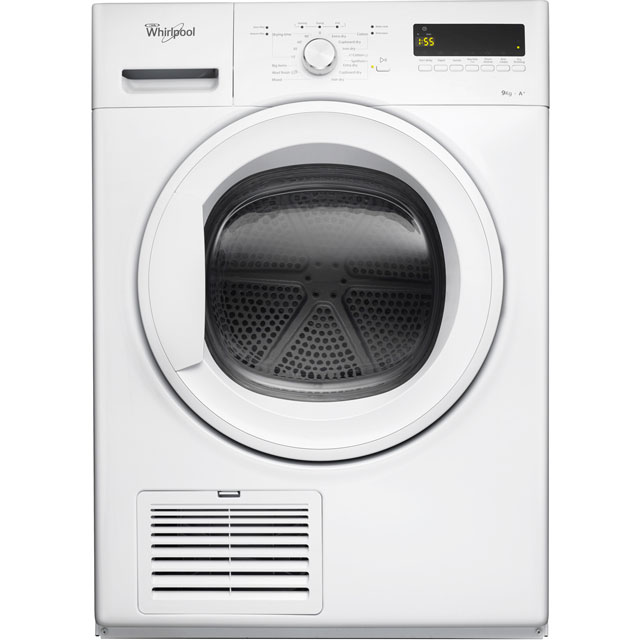 Whirlpool DDLX90110 Free Standing Condenser Tumble Dryer in White