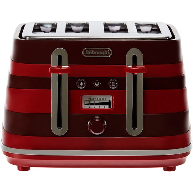 DeLonghi Avvolta CTAC4003.R 4 Slice Toaster - Red