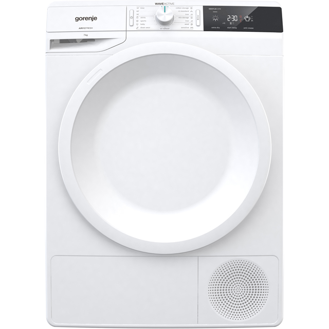 Gorenje WaveActive DE7B 7Kg Condenser Tumble Dryer - White - B Rated - DE7B_WH - 1