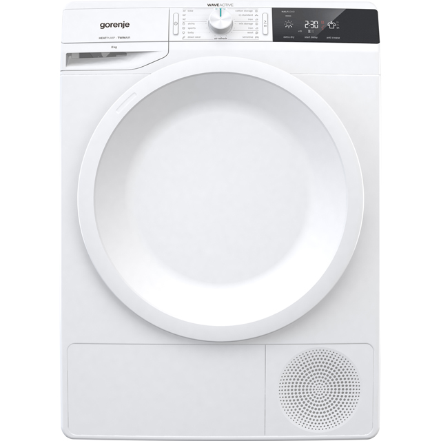 Gorenje WaveActive DE82 8Kg Heat Pump Tumble Dryer - White - A++ Rated - DE82_WH - 1