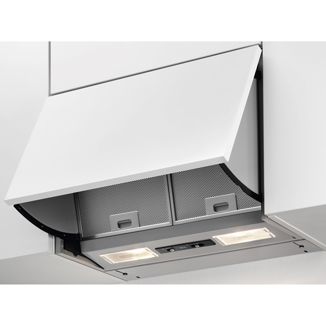 Image of AEG DEB2631S 60 cm Integrated Cooker Hood - Silver Grey - D Rated