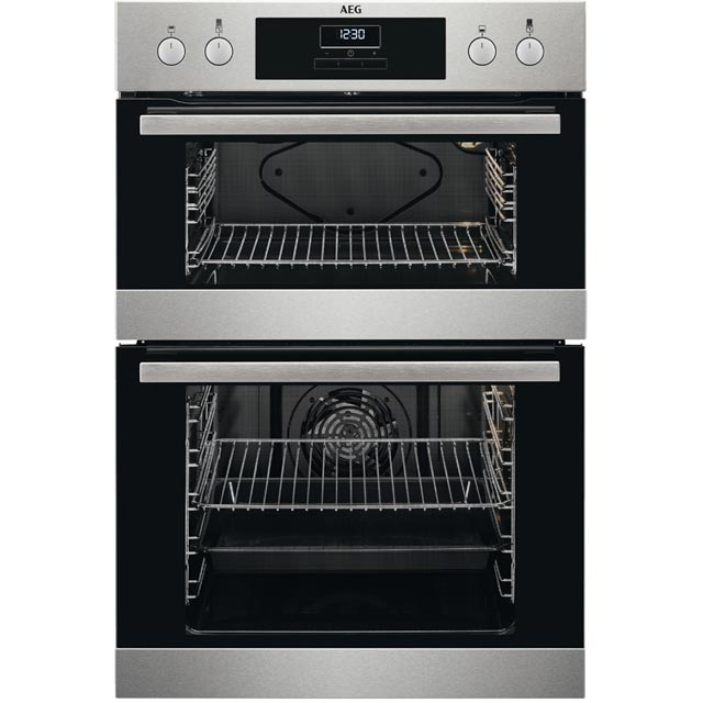 AEG DEB331010M Built In Double Oven - Stainless Steel - A/A Rated