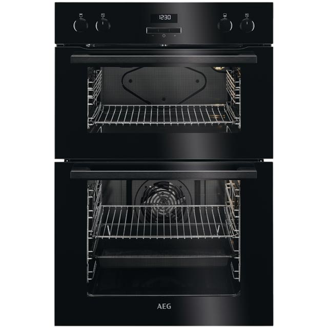 AEG Built In Double Oven - Black - A/A Rated
