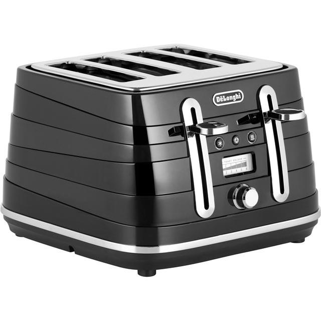 DeLonghi Avvolta CTA4003.BK 4 Slice Toaster - Black