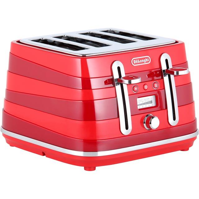 DeLonghi Avvolta CTA4003.R 4 Slice Toaster - Red