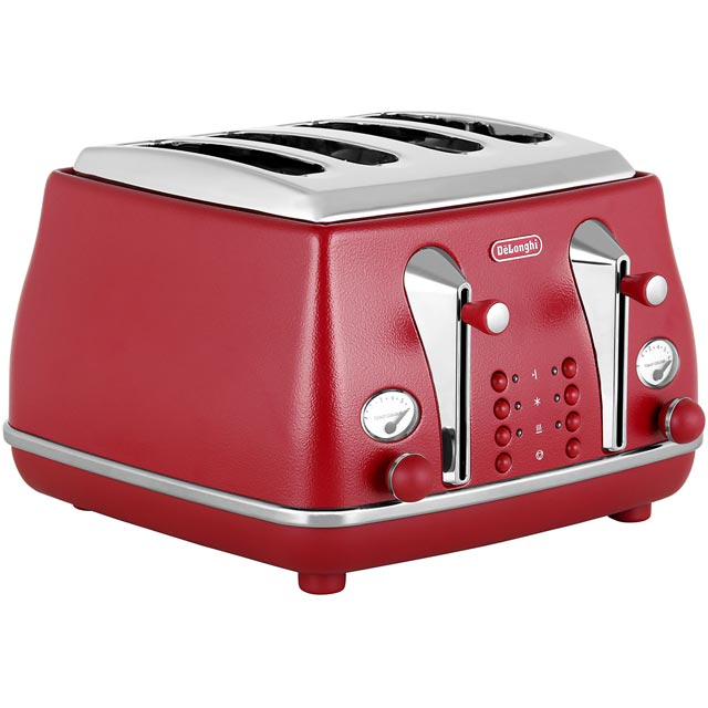 De'Longhi Element CTOE4003.R 4 Slice Toaster - Red