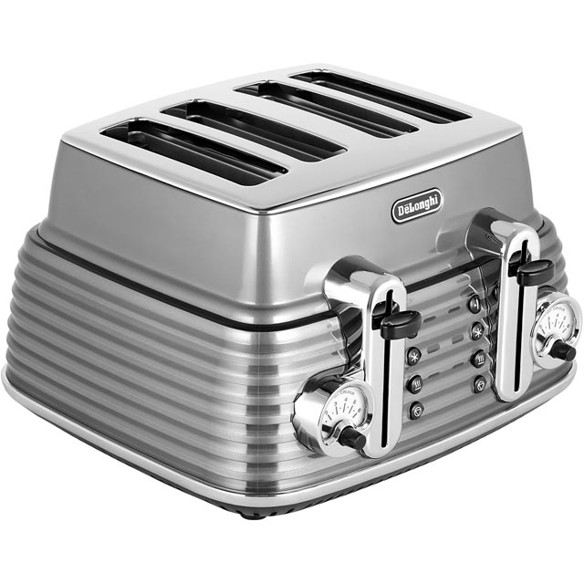De'Longhi Scultura CTZ4003.GY 4 Slice Toaster - Grey - CTZ4003.GY_GY - 1
