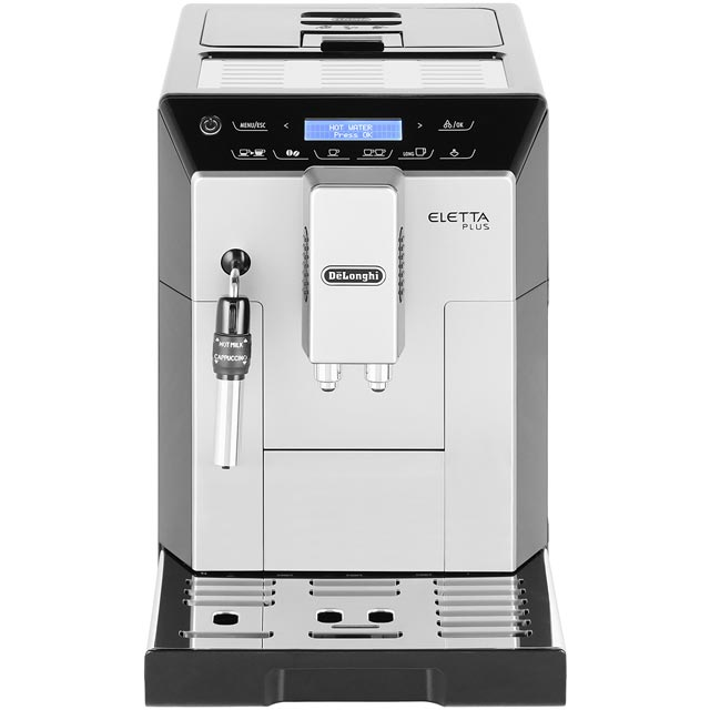 De'Longhi Eletta Plus ECAM44.620.S Bean to Cup Coffee Machine - Black / Silver