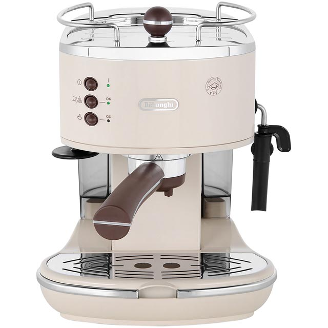 De'Longhi Icona Vintage Espresso Coffee Machine - Cream