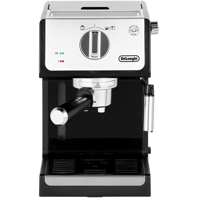 De'Longhi Traditional Pump ECP33.21 Espresso Coffee Machine - Black / Chrome - ECP33.21_BK - 1