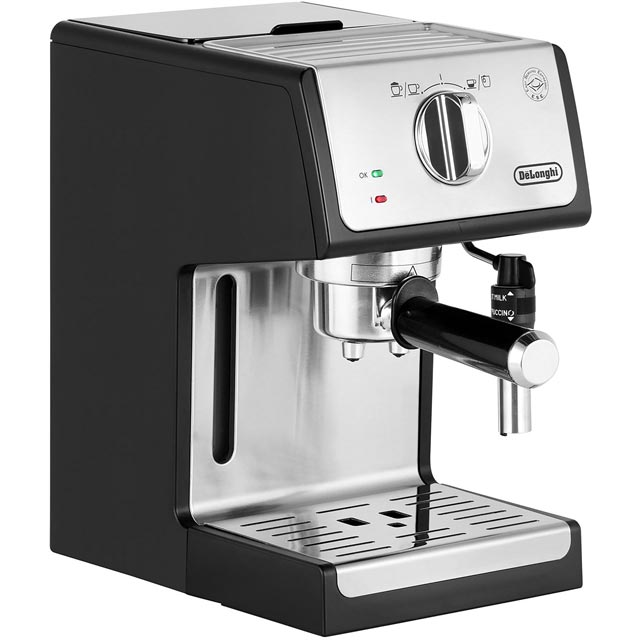 De'Longhi Traditional Pump Espresso Coffee Machine - Black / Chrome