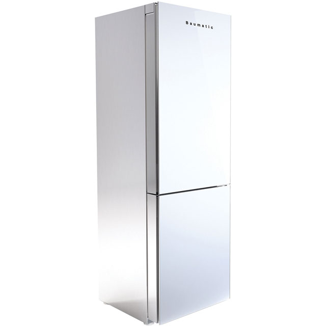 Baumatic Free Standing Fridge Freezer Frost Free in White / Stainless Steel