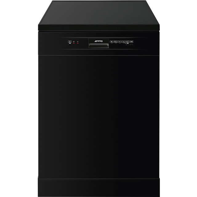 Smeg DF12E1BL Standard Dishwasher - Black - A+ Rated - DF12E1BL_BK - 1